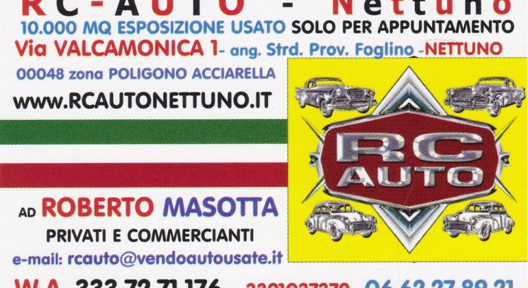 RC AUTO NETTUNO Auto Nazionali Usate Certificate per Privati & Rivenditori