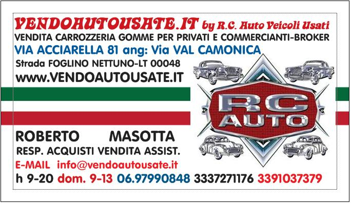 RC Auto VENDOAUTOUSATE.it Nettuno Via ACCIARELLA 81